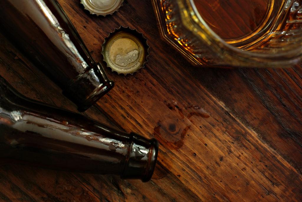 ølflasker på bord